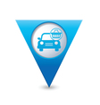 car with shop basket icon pointer blue vector image vector image