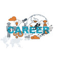 career banner background design concept vector image vector image