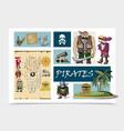 cartoon sea pirates concept vector image vector image