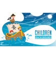 children background vector image