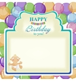 Childrens greeting background for the boy vector image vector image