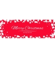Christmas background with snowflakes border vector image vector image