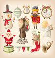 christmas retro toys vector image vector image