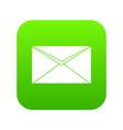 closed envelope icon digital green vector image
