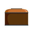 cognac wood barrel icon flat style vector image vector image