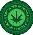 Colorado smokers club emblem vector image