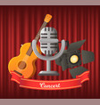 concert musical instrument and vintage mike vector image