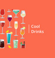 cool drinks set of tropical cocktails orange juice vector image vector image