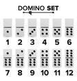 domino set realistic white vector image