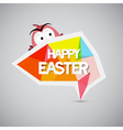 Easter Background Colorful Label with Chicken vector image vector image