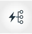 energy consumption creative icon monochrome style vector image vector image