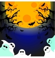 five friendly ghosts vector image vector image