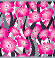flower wave seamless background floral pattern vector image