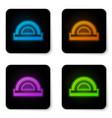 glowing neon protractor grid for measuring vector image vector image