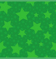 green seamless pattern with stars vector image