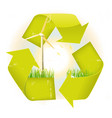 grunge recyclable symbol vector image