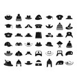 hat icon set simple style vector image vector image