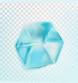ice cube isolated transpatrent fresh piece vector image vector image