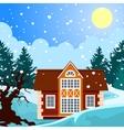 Idyllic winter landscape vector image