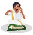indian tamil man cartoon vector image