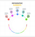 infographic elements circle template with five opt vector image