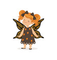 little girl dressed as a butterfly cute kid in vector image