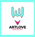 love art pencil logo vector image vector image