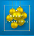 merry christmas or new year greeting card holiday vector image vector image