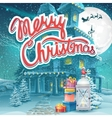 Merry Christmas with presents vector image vector image