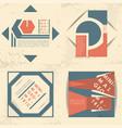 minimal geometric set templates labels vector image