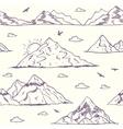 Mountain doodle seamless vector image