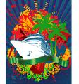 ocean cruise poster vector image