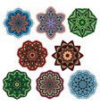 paisley floral pattern or indian mandala ornaments vector image vector image