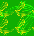 pattern from light green and yellow lines vector image vector image
