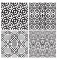 pattern set vector image vector image