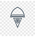 pennant concept linear icon isolated on vector image