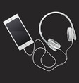 phone and music vector image vector image