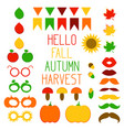 photo booth props fall harvest design elements vector image
