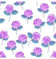 purple rose flower pattern vector image vector image