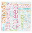 Queen s University text background wordcloud vector image vector image