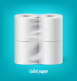 realistic packaged toilet paper rolls isolated vector image vector image