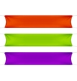 Red Green and Purple Blank Empty Banners vector image vector image
