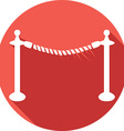 Rope Barrier Icon vector image vector image