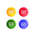 round discount banners painted with paint vector image vector image