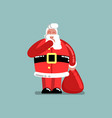 santa requests to be quieter vector image vector image
