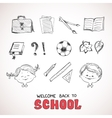 School objects sketch style vector image vector image