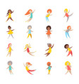 set people vector image vector image