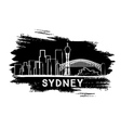 Sydney Skyline Silhouette Hand Drawn Sketch vector image vector image