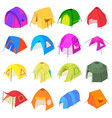 tent forms icons set isometric style vector image vector image