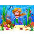 The Little Mermaid vector image